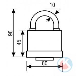 Замок навесной АЛЛЮР SP-50 влагозащитный d=10