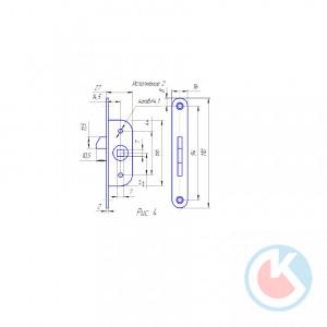 Механизм к ЗР-2 (цинк) с планкой (100шт) (Завертка ЗР-2)