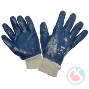 Перчатки облит.нитрил (5009)с резинкой (12/120пар.)